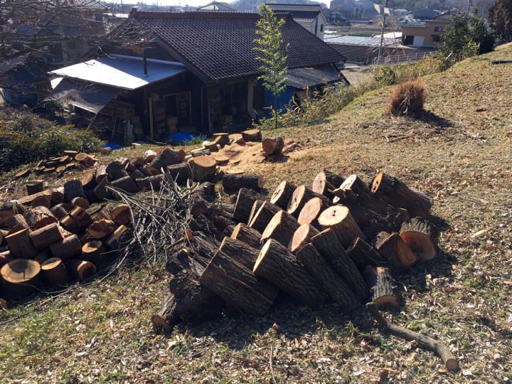 今日の薪仕事