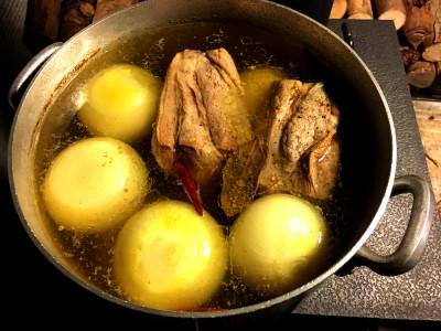 薪ストーブ料理 ポトフ