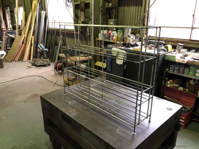 溶接DIYで薪ラック製作