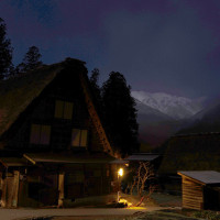 夜の白川郷