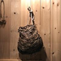 天然蔓と籐の腰籠
